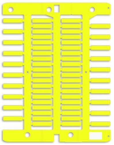 Маркировка для трубочек, гибкая DKC NUTFL23Y для провода, 4х23мм. Желтая,