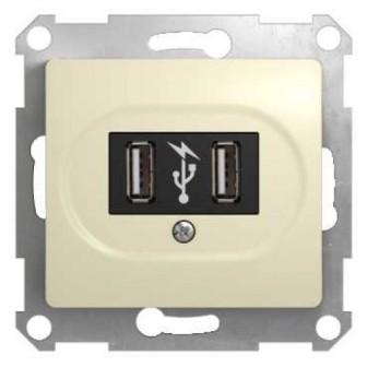 Розетка Schneider Electric GSL000232 USB Розетка