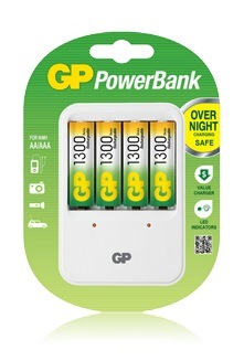 Зарядное устройство GP PB420GS130 PB420 + 4 аккум. 1300mAh, size AA, поддерживает AA/AAA