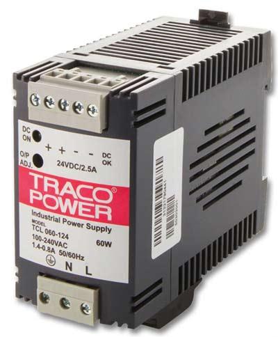 Преобразователь DC-DC модульный TRACO POWER TCL 060-148C 60Watt;48 VDC / 1250 mA;DIN-rail power supply for industrial, office and residential applicat