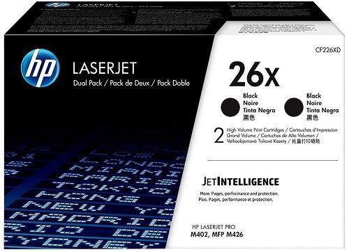 Картридж HP 26X CF226XD черный x2уп, для HP LJ Pro M402/M426, 18000стр