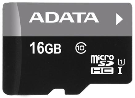 Карта памяти 16GB ADATA AUSDH16GUICL10-R micro SDHC Class10 Premier UHS-I (R/W 30/10 MB/s) без адаптера