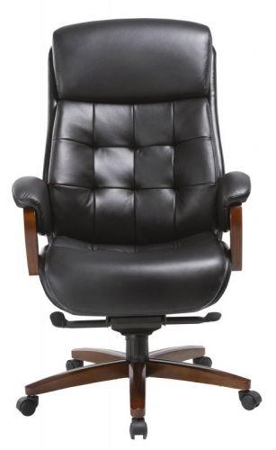 Фото - Кресло Бюрократ _Mega черный, кожа, крестовина металл кресло бюрократ ch 605 черное искусственная кожа крестовина металл