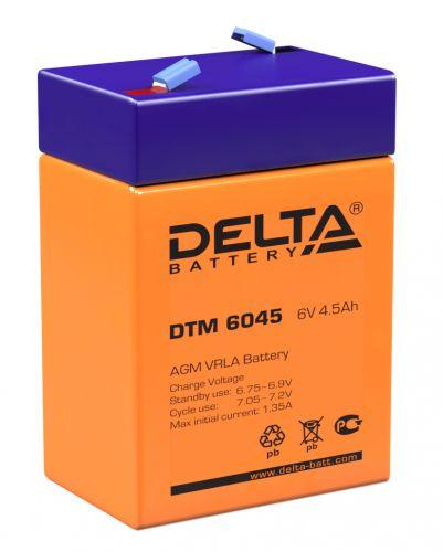 Батарея Delta DTM 6045 6В, 4,5Ач, 70мм/47мм/107мм