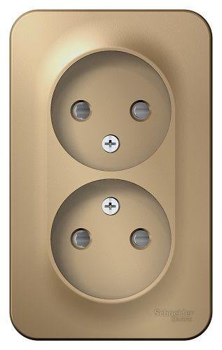 Розетка Schneider Electric BLNRA001214 2-ая б/з со шторками 16А, 250В, изолир. пластина Титан наруж розетка 2 ая se blanca наруж титан с з со шторками 16а 250в изолир пластина арт se blnra011214