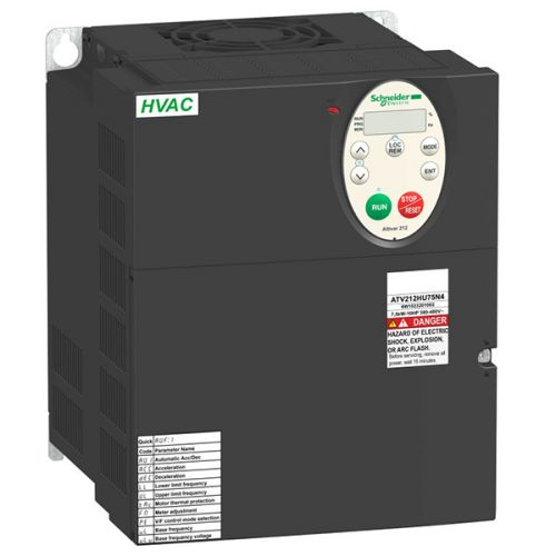Преобразователь Schneider Electric ATV212HU75N4 частотный 7,5кВт 480В IP21
