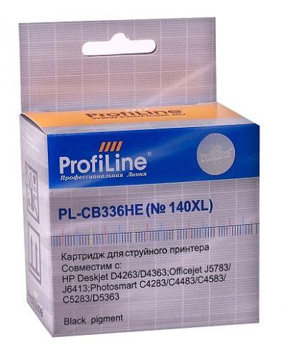 Картридж ProfiLine PL-CB336HE-Bk №140XL для принтеров HP DJ D4263/D4363/Officejet J5783/J6413/Photosmart C4283/C4343/C4483/C4583/C5283C/D5363 Back пиг