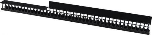 Фото - Органайзер Lanmaster LAN-DC-CB-42Ux8-VO18 42U глубиной 179 мм, для шкафов шириной 800 мм, 2 шт. в компл., черный комплект боковых панелей lanmaster lan dc cb 42ux10 sp с замками для шкафа 42u глубиной 1070 мм
