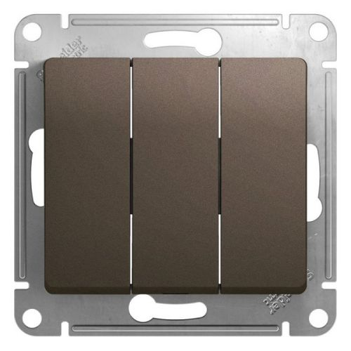 Выключатель Schneider Electric GSL000831 3-клавишный сх.3, 10AX шоколад