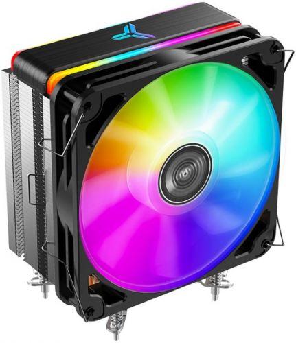 Кулер JONSBO MX400 LGA1200/115X/AM4/AM3/3+/AM2/+/FM2/+/FM1(TDP 180W, PWM, 140mm ARGB Fan, 4 тепловые трубки, 4-pin) Retail