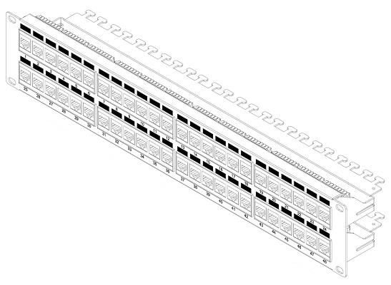 Hyperline PP3-19-48-8P8C-C6-110D