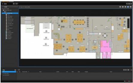 Программное обеспечение Wisenet SSA-M3000 для настройки и управления СКУД на 32 двери; графические карты, удаленное управление, подготовка отчетов, ди