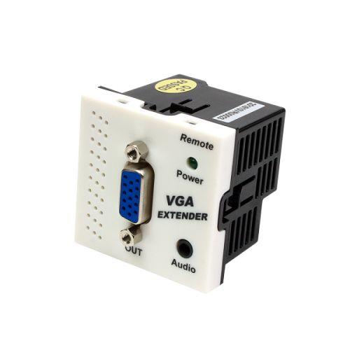 Конвертер Lanmaster LAN-SIP-23VGA/RX-WH RJ45-VGA, приемник, без блока питания, формата Mosaic, 45x45мм, белый