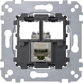 Розетка Schneider Electric Merten Actassi компьютерная 1xRJ45 категория 5е STP