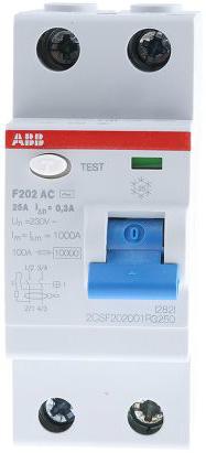 УЗО ABB 2CSF202001R3250 F202AC 2Р 25А 300mA (AC)