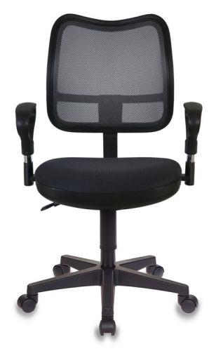 Фото - Кресло Бюрократ CH-799AXSN цвет черный TW-01, сиденье черное TW-11 сетка/ткань крестовина пластик кресло бюрократ ch 605 черное искусственная кожа крестовина металл