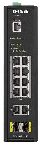 Фото - Коммутатор промышленный управляемый D-link DIS-200G-12PS/A1A 10x10/100/1000Base-T, 2x1000Base-X SFP (8 портов с поддержкой PoE 802.3af/802.3at (30 Вт) коммутатор промышленный управляемый d link dis 200g 12ps a1a 10x10 100 1000base t 2x1000base x sfp 8 портов с поддержкой poe 802 3af 802 3at 30 вт