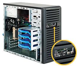 "Корпус mATX Supermicro CSE-731D-300B (4x3.5"" Int Bay, mATX 9.6""x9.6"", 4x I/O exp slot, 300W HiEff)"