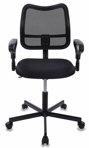 Фото - Кресло Бюрократ CH-799M черное/черное, спинка сетка, крестовина металл кресло бюрократ ch 605 черное искусственная кожа крестовина металл