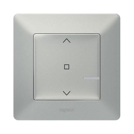 Выключатель Legrand 752390 Valena Life with NETATMO, умный выключатель рольставней 500 ВА 230В, алюминий