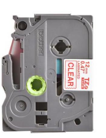 Наклейка Brother TZE132 Наклейка ламинированная TZ-E132 (12 мм красн/прозр) наклейка