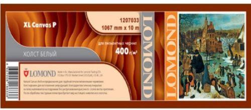 Фото - Бумага широкоформатная Lomond 1207033 Холст LOMOND XL Natural Canvas Pigment Archive - ролик (1067ммХ10м), 400 мкм, для пигментных чернил. холст lomond xl natural canvas dye 400 мкм 0 610x10 м 50 8 мм 1207011