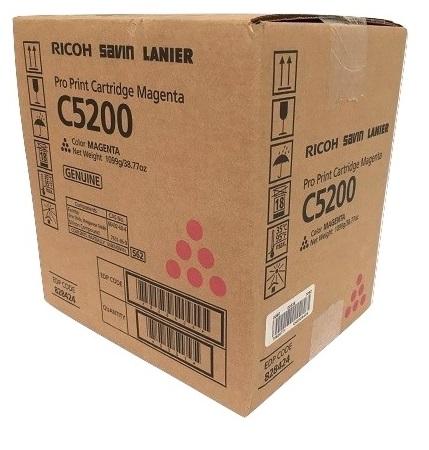 Картридж Ricoh Pro Print Cartridge Magenta C5200 828428 Тонер пурпурный тип C5200. Ресурс 24 000 отп (A4, 8,75% заполнения), ресурс 42 000 отп (A4, 5%