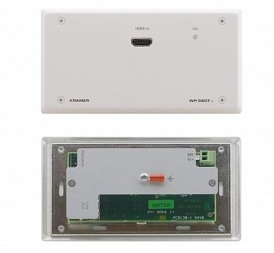 Передатчик Kramer WP-580TXR/EU(B)-86 50-800431290 HDMI, RS-232 и ИК по витой паре HDBaseT с разъемом DVI-I, до 70м, поддержка 4К60 4:2:0