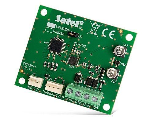 Интерфейсный модуль SATEL INT-TXM мониторинга позволяет подключить к ПКП INTEGRA или VERSA передатчик для радиомониторинга (формат ESPRIT) на ПЦН Pupe