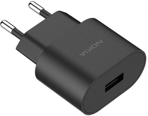 Фото - Зарядное устройство сетевое Nokia 8P00000025 1A AD-5WE black б/кабеля автомобильное зарядное устройство tfn 1a black б кабеля