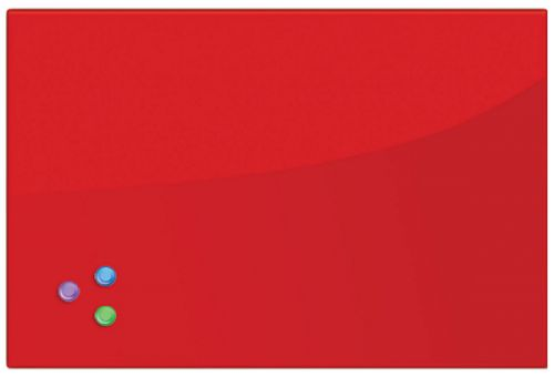 Доска BRAUBERG 236746 магнитно-маркерная стеклянная 40х60 см, 3 магнита, красная brauberg 45x45 см розовая 3 магнита 236742