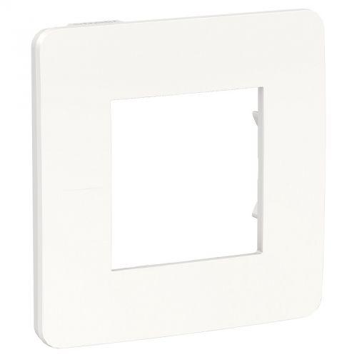 Рамка Schneider Electric NU280218 Unica Studio, белая/белая, 1-ная