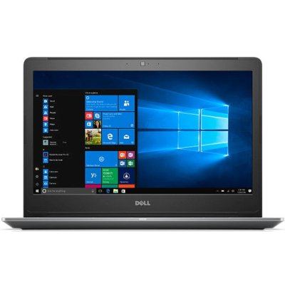 "Ноутбук Dell VOSTRO 5568 15. 6"" (1920x1080)/Intel Corei5-7200U (3. 1GHz, 3MB, DC)/8GB DDR4/SSD 256GB/HD620/Cam/W iFi/BT/3cell/Win  10 Home/Grey/1Y Basic NBD (5568-9968)"