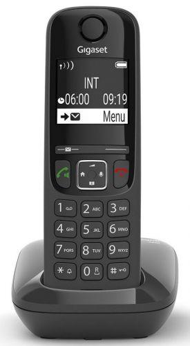 Телефон DECT Gigaset AS690 RUS SYS S30852-H2816-S301 черный АОН