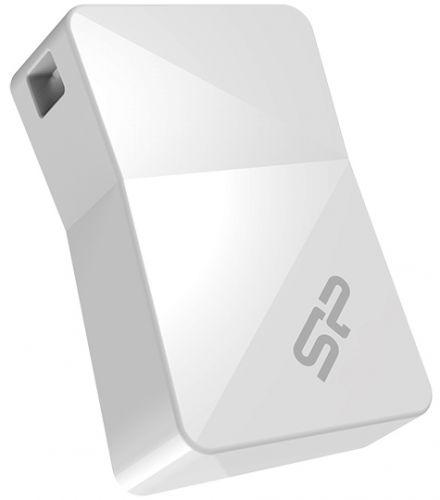 Фото - Накопитель USB 2.0 8GB Silicon Power Touch 08 SP008GBUF2T08V1W белый накопитель usb 3 0 8gb silicon power jewel j08 sp008gbuf3j08v1k черный
