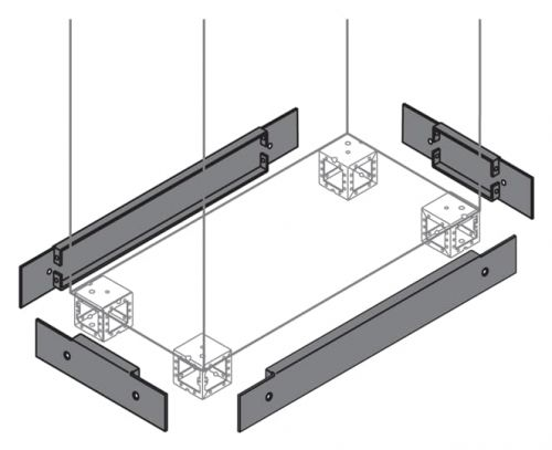 Фланец ABB ZN8000 цоколя 100х800 ВхШ (2шт)