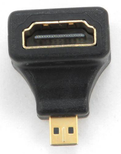 Переходник Gembird HDMI-microHDMI A-HDMI-FDML 19F/19M, угловой, золотые разъемы, пакет