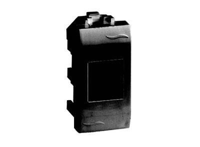Розетка DKC 77581MN TV оконечная (прямое кабельное соединение), черная, 1 модуль,