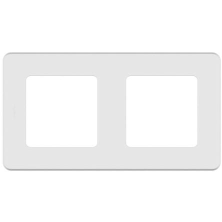 Рамка Legrand 673940 Inspiria белая - 2 поста
