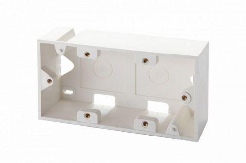 Коробка Eurolan 12A-00-04WT настенная, для рамок серии 45, на 4 модуля 22.5х45.0, белая