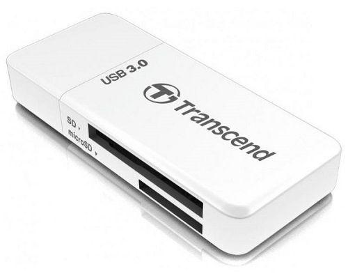 Карт-ридер внешний Transcend TS-RDF5W SD/microSD, USB 3.0, белый