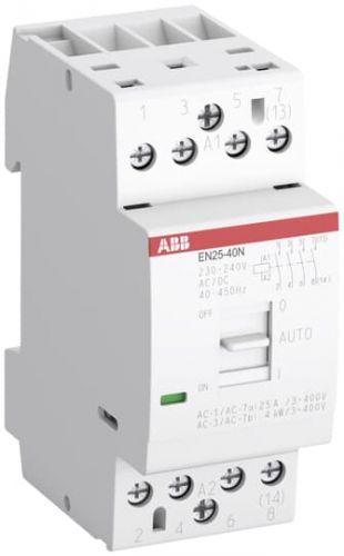 Контактор модульный ABB 1SAE232111R0640 EN25-40N-06 модульный (25А АС-1, 4НО), катушка 230В AC/DC