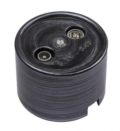 Розетка Bironi B1-304-11 серебряный век, R/TV-SAT проходная, пластик