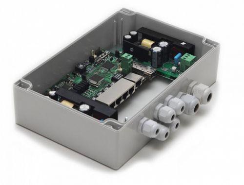 Коммутатор TFortis PSW-1G 4F Гигабитный управляемый / неуправляемый уличный для подключения 4 камер