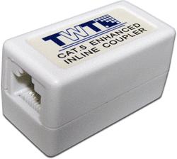 Адаптер проходной TWT TWT-CP45UTP5E RJ-45, не экранированный, категории 5е