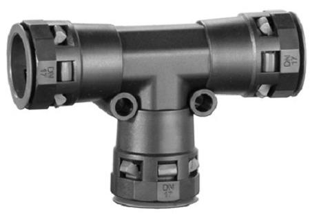 Тройник DKC PAT10N DN 10/10/10 мм, полиамид, цвет черный,
