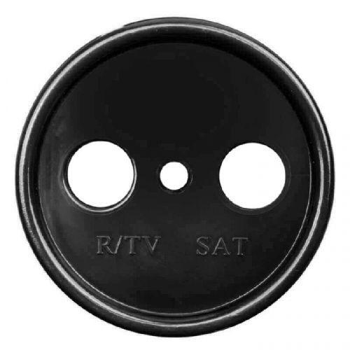 Накладка Bironi B3-064-23 на механизм телевизионной розетки, для скрытого монтажа (крепежный шуруп в комплекте)