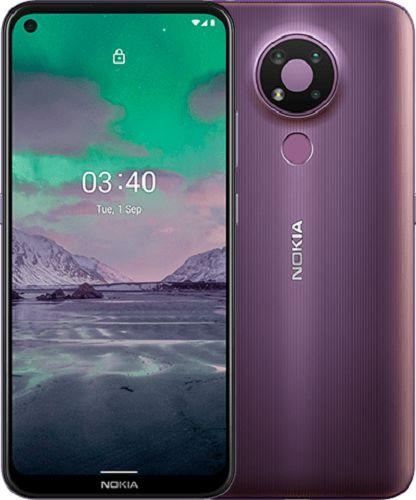 """Смартфон Nokia 3.4 DS 3/64GB HQ5020KD12000 purple, 6.39"""", 512GB flash, 13Mpix/5Mpix/2Mpix/8Mpix, 2Sim, GSM/WCDMA/LTE, BT/Wi-Fi/NFC GPS/AGPS+GLONASS+BD смартфон nokia 2 4 ds ta 1270 серый 6 5 32 гб wi fi bluetooth 3g 4g gps"""