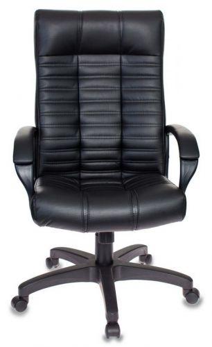 Кресло Бюрократ KB-10 черный, искусственная кожа, крестовина металл