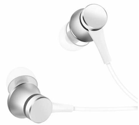 Наушники Xiaomi Mi In-Ear Basic ZBW4355TY серебристые, проводные, 1.25м, в ушной раковине